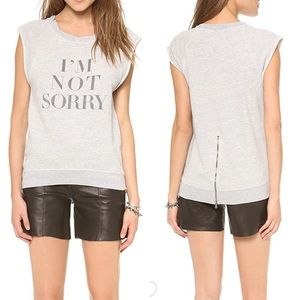 Pam & Gela not sorry sweatshirt tank